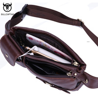 Genuine Leather Waist Packs Fanny Pack Belt Bag Phone Pouch Bags Travel Waist Pack Male Small