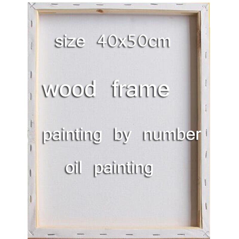 Diy 40x50 cm holzrahmen Malen Nach Zahlen rahmen für leinwand ...