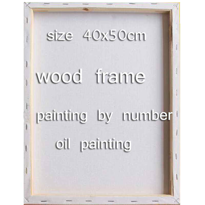 Diy 40x50 cm marco de madera pintura por números marco para lona ...