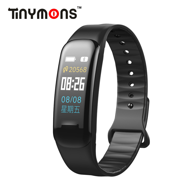 Tinymons C1plus Color Screen Smart Bracelet Blood Pressure Heart Rate Monitor Fitness Tracker C18 Sport Smart Wristband