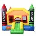 Nueva Crayón Inflable casa de Brinco Castillo Puente Moonwalk Gorila Sin Ventilador OP70000