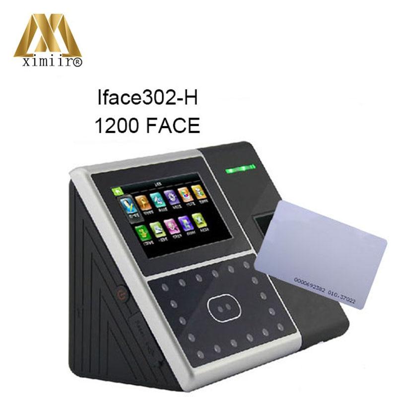 4,3 tft Touchscreen 2000 Fingerprint Benutzer Hohe Qualität Iface302 Freies Verschiffen Gesichts-und Fingerprint Zeit Teilnahme Ip-gesichtserkennungsgerät Zugangskontrolle