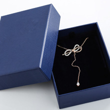 2020 explosion model titanium steel bow necklace crystal from Austrian temperame