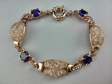 EEL Red and Purple zircon Two color Necklace earrings Bracelet jewelry set Elegant Rhinestone Crystal Wedding Bride Party