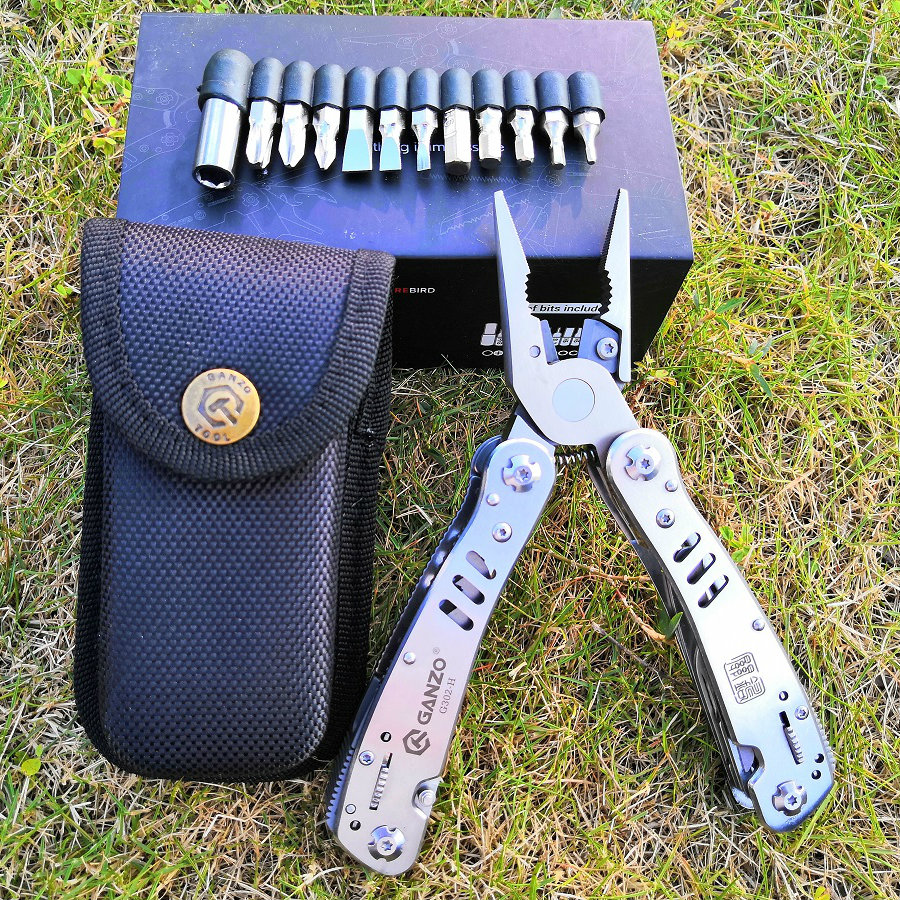 Tool Kit bag Combination Stainless Steel Folding Knife long nose Pliers Ganzo G302H Tungsten Exchangeable Blade
