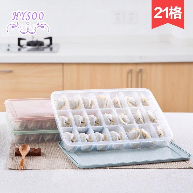 Plastic Dumpling Box Frozen Dumplings Fresh Storage Boxes Fridge Dumpling Boxes HYSOO