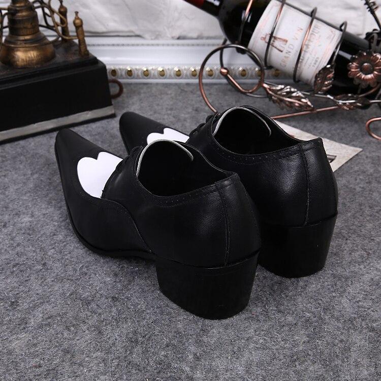 Bout En Noir Formelle De Mariage Robe Chaussures Lacent Patchwork Hommes Véritable Oxford Pointu Cuir RxqwqBTC