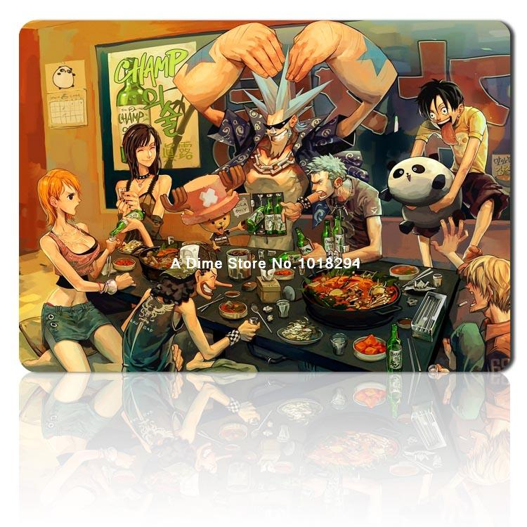 one piece mouse pad new Party dinner mousepad laptop anime mouse pad gear notbook computer gaming mouse pad gamer play mats