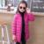 Meninas novas da Chegada Prevista para baixo parkas jaqueta de inverno crianças casaco Com Capuz Mangas Longas Sólidos Quentes Casacos Outerwear Jaqueta de Roupas de Criança