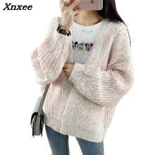 2018 Female Cardigan  Autumn And Winter Warm Women Sweater Long Sleeve Casual Knitted Tops Xnxee