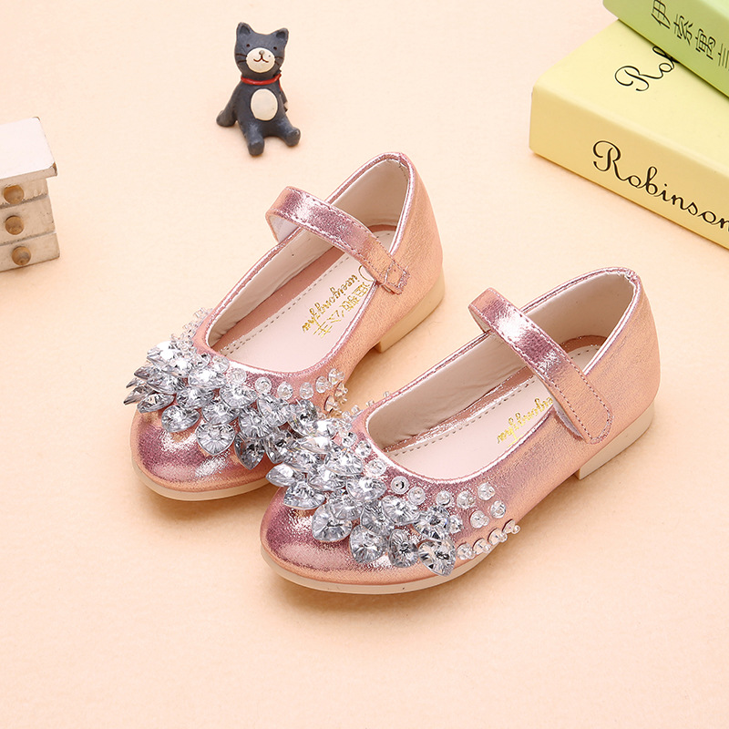 Kids Girls Crystall Bling Flats Shoes Princess Slip On Wedding Party Formal  Dress Shoes Girls Sequins Soft Sole Shoes AA11353 on Aliexpress.com  375fd54a4a06