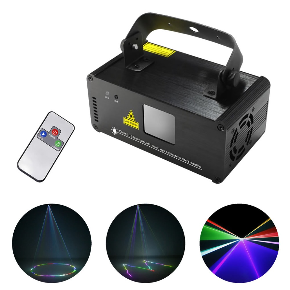 AUCD IR Remote DMX 512 Mini 400mW RGB Full Color Laser Stage Lighting Scanner DJ Dance Party Show Projector Lights DM-RGB400 rg mini 3 lens 24 patterns led laser projector stage lighting effect 3w blue for dj disco party club laser
