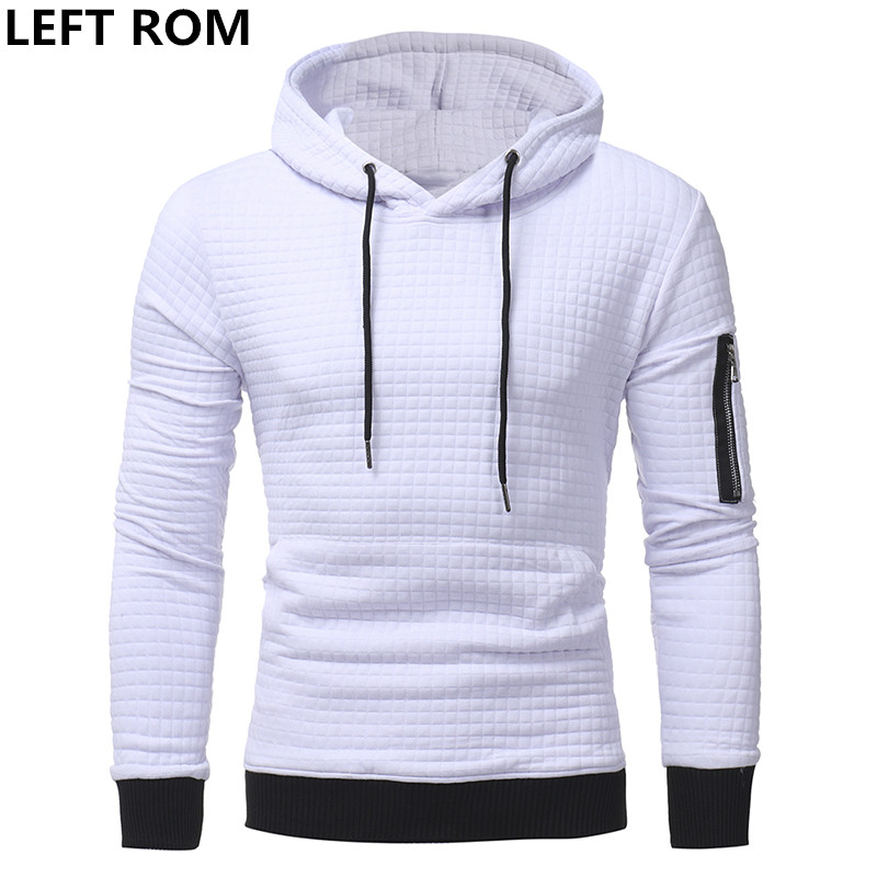 LEFT ROM Men 2017 Brand Male Long Sleeve Solid Color Hooded Sweatshirt Mens Hoodie Tracksuit Sweat Coat Casual Sportswear S-3XL