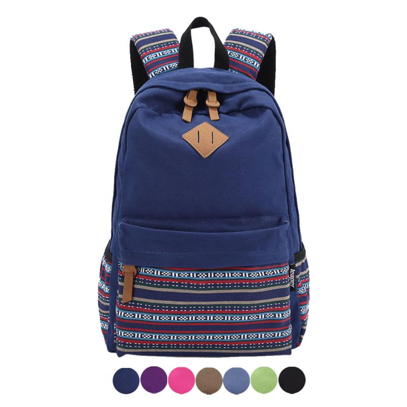 2016 Hot Sale Hot Unisex Vintage Canvas Backpack Rucksack School Satchel Bag Bookbag zaini scuola Anne Shop