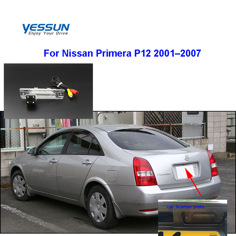 Yessun HD CCD Night Vision Car Rear View Reverse Backup Camera For Accessories Nissan Primera P12 2001–2007