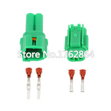 10pcs 2 hole 2.3 Plastic parts car connector waterproof with terminal DJQ7022-2.3-21