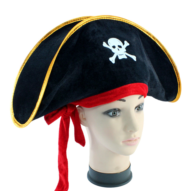 Halloween accessories skull hat caribbean pirate hat skull hat piracy cap Corsair cap party supplies Costume Fancy Dress Party