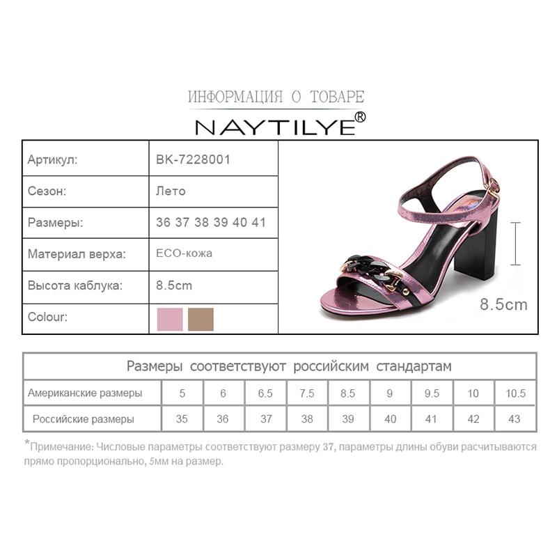 NAYTILYE Sommer Sandalen Bling Strass Frauen Sandalen High heels Mode - Damenschuhe - Foto 6