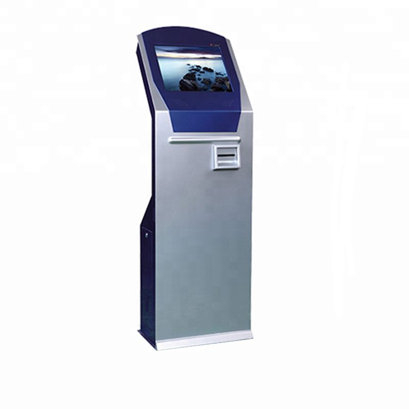 Alone Standing Advertising 17 Inch LCD Poster Kiosk With Brochure Holder