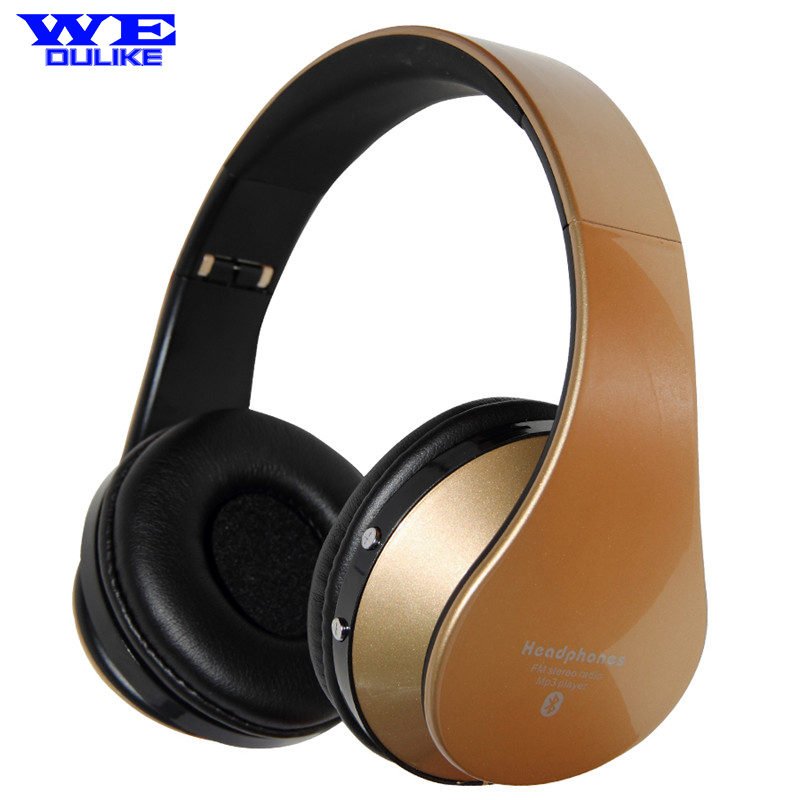 Music Sound Stereo Bluetooth Headset Headphones with Microphone for PC Computers Mobiles Phones Foldable Deep Bass Big Earphones computers