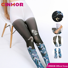 CINHOR מקורי מותג דאודורנט לחות הפתילה ירכיים דפוס לנשימה אקארד גרביונים אנטי הפשטה אנטיבקטריאלי גרביים