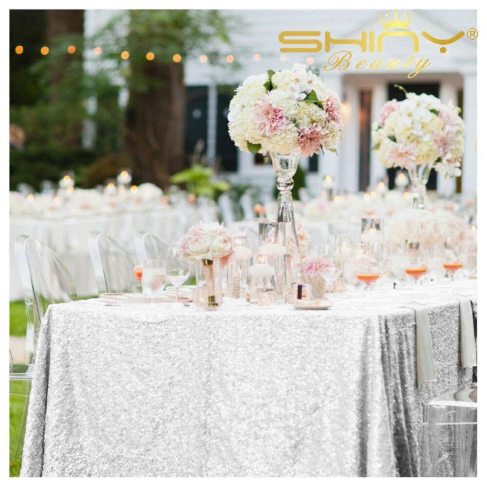 90in Square Silver Sequin Tablecloth, Glitter Tablecloth, Sequin ...