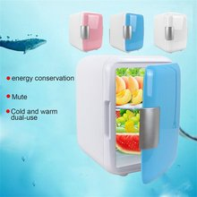 4L Car Refrigerators Ultra Quiet Low Noise Mini Freezer Cooling Heating Box Fridge Home Outdoor