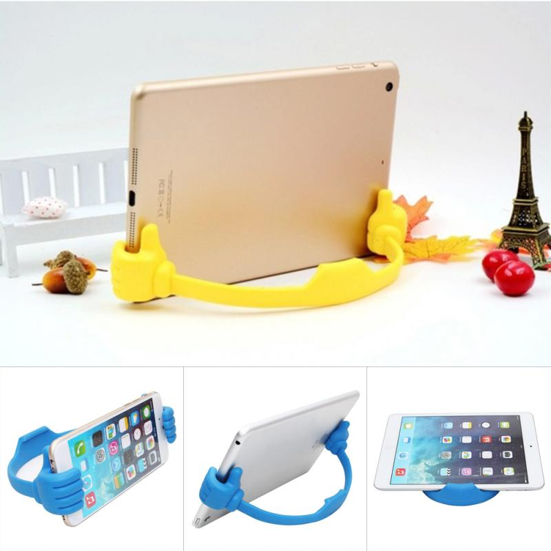 Adjustable Plastic Thumbs Modeling Mobile Phone Bracket For Smartphone Tablet Support Bracket Mounting Holder Universal
