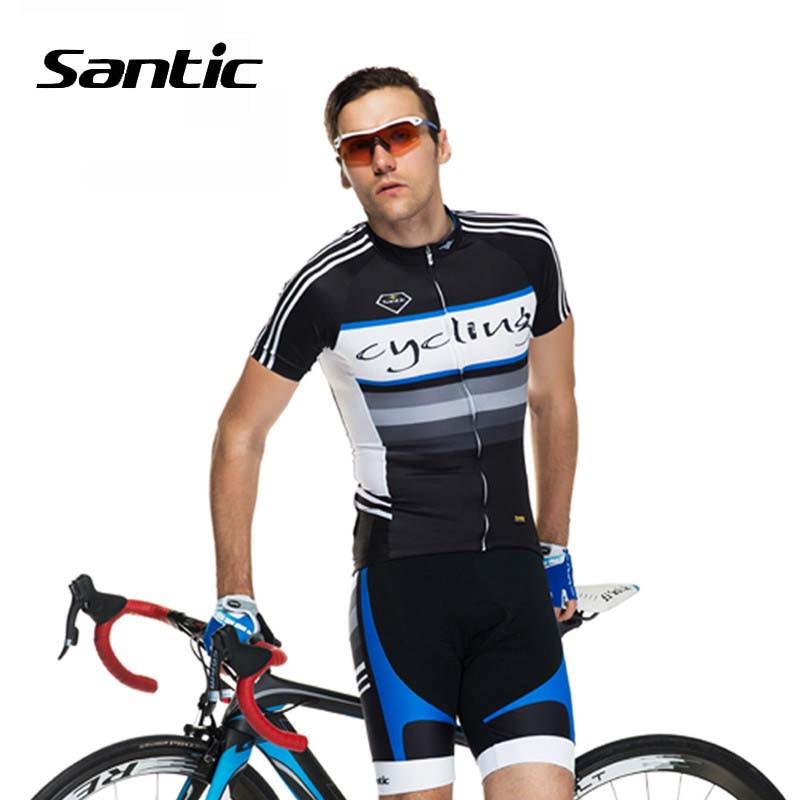 Здесь продается  Santic Men Short Sleeve Cycling Jersey 2018 Pro Racing Team Breathable Bike Skinsuit Cycling Set Bicycle Clothing Roupa Ciclismo  Спорт и развлечения