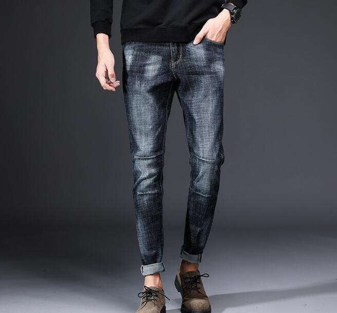 Design Men's Casual Stretch Spring Thin Jeans