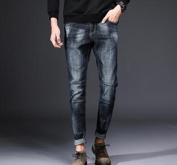 جينز ربيعي رقيق غير رسمي للرجال بتصميم جديد شهير لعام 2018
