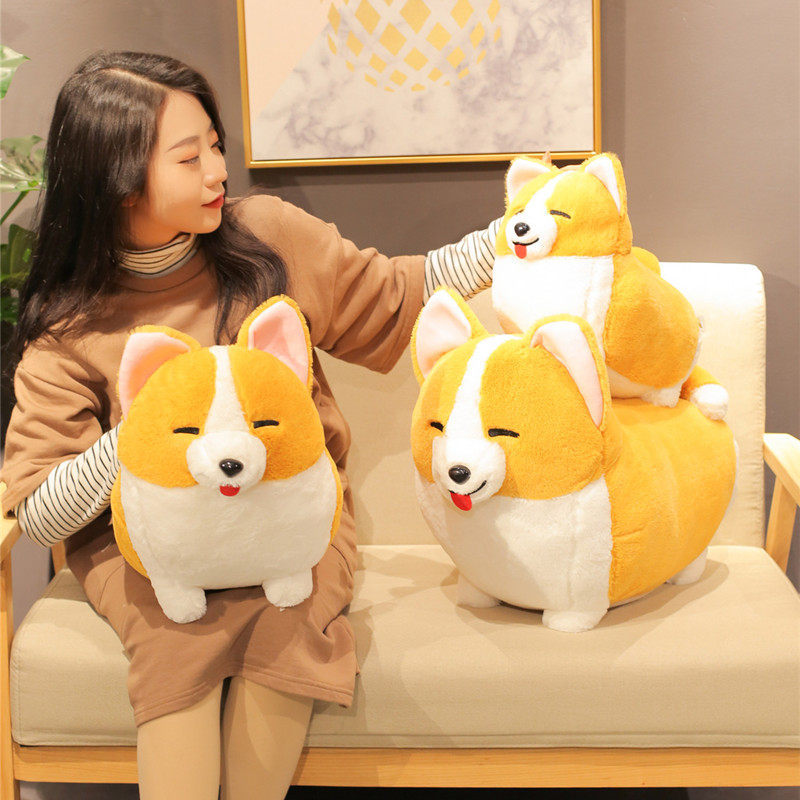 1pc 38-60CM Kawaii Corgi Dog Plush Toy Cute Cartoon Animal Chai Dog Pillow Stuffed Dolls FOR Children Girls Valentine's Gifts