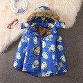 Горячая распродажа 2015 новорожденных девочек мальчики миньонов пальто дети теплый открытый хлопка-ватник дети свободного покроя толщиной верхняя одежда парки