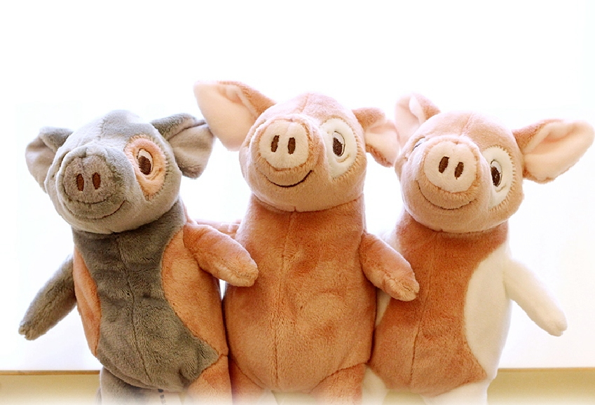 Super Soft Premium Quality Hand made Cute Standing Pig font b Stuffed b font Doll font