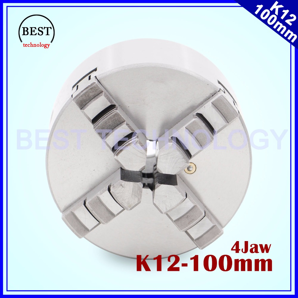 100mm 4 jaw Chuck self-centering manual chuck four jaw K12-100 for CNC Engraving Milling machine ,CNC  Lathe Machine! useful 15pcs set 2mm 16mm er25 precision spring collet for lathe chuck for cnc milling engraving machine best price