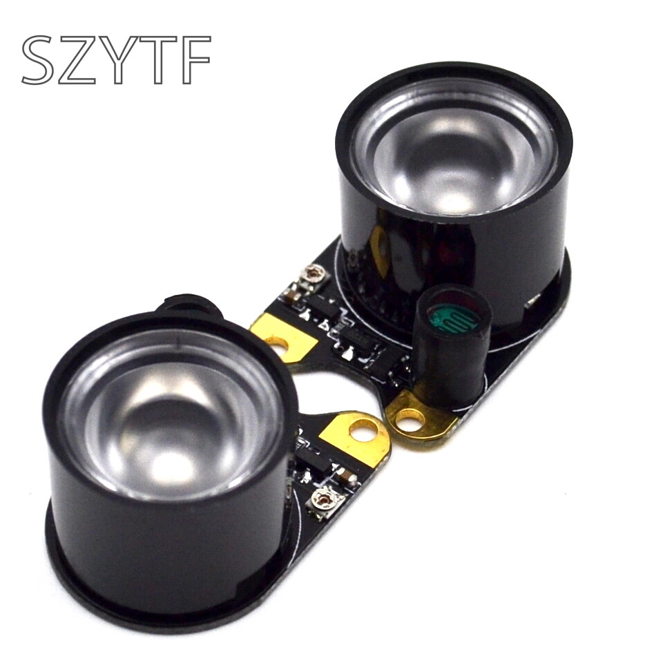 2pcs night vision camera infrared light 3w power infrared light for raspberry pi camera(China)