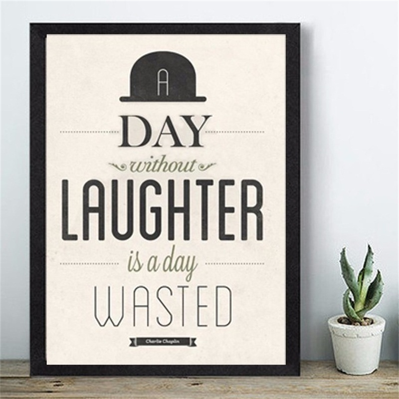 Charlie Chaplin Quotation Mural A Day Without Laughter Is A Day Gorgeous Quotation Of The Day