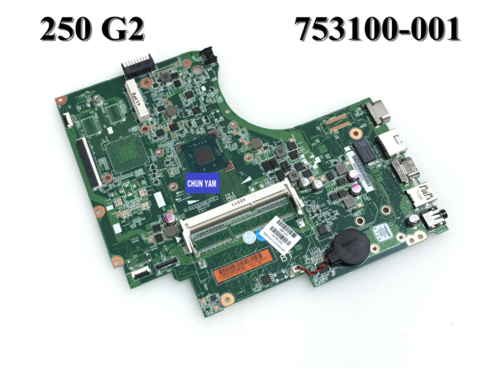 ФОТО Original 753100-501  for HP 250 G2 series Laptop Motherboard  753100-001 N2820 Notebook PC mainboard 100%Tested 90 Days Warranty
