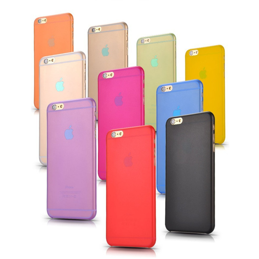 Горячие продать 0.3 мм Ультра Тонкий Корпус тонкий Матовый Прозрачный Край Hybrid PC Обложка Чехол Для iPhone 6 6 S мобильного телефона мешок