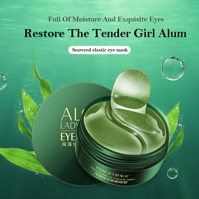 Eye Patches Korean Collagen Hydrogel Ageless Anti Aging 60PCS Gold Green Anti Wrinkles Eyes Mask Dark