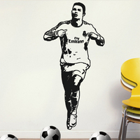 Free shipping Wall Stickers Wholesale and retail Wall decor PVC material decals wallpaper mural football soccer Ronaldo Z-249