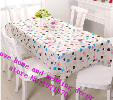 Delightful New Plastic Table Cloth Pink Floral Printed Waterproof Oilproof PVC Table  Cover Hotel Party Wedding Tablecloth