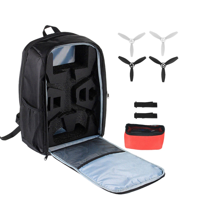 For Parrot Bebop 2 Backpack Shoulder Bag +4Pcs Propeller Portable Travel Storage Bag Carrying Case For Parrot Bebop 2 Power Fp image