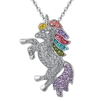 Trendy For Women Baby Gifts for High Quality Unicorn Animal Necklace Girls Rainbow Necklaces & Pendants 1