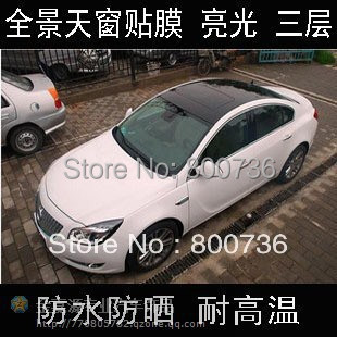1.52x30M Air Free Bubbles Glossy Black Car Panoramic Sunroof Sticker Foil Car Wrapping Foil Car Sunroof Sticker