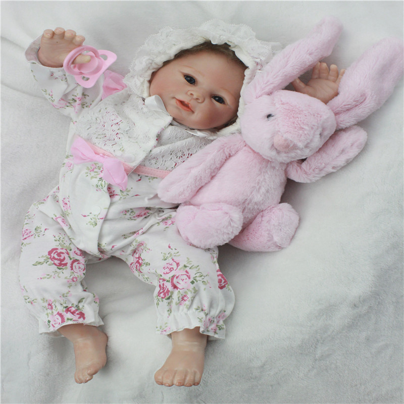 SanyDoll 19 inch 48 cm Silicone baby reborn dolls, lifelike doll reborn Beautiful dress baby Christmas giftSanyDoll 19 inch 48 cm Silicone baby reborn dolls, lifelike doll reborn Beautiful dress baby Christmas gift