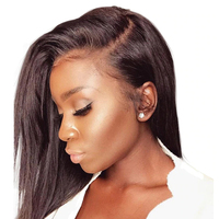250% Плотность 13X6 синтетические волосы на кружеве человеческие Искусственные парики для женщин Бразильский прямые волосы парик натуральный