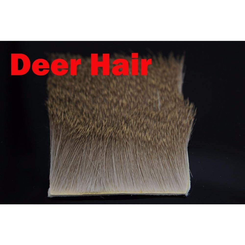 Tigofly 2 Pcs/Lot Deer Hair Elk Body Hair Short Slim Thin Fur 6cmX6cm Dry Flies Muddlers Caddis Fly Fishing Tying Materials все цены