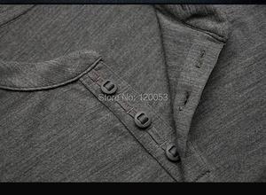 Image 2 - Mens100% Australia Merino Wool Long Sleeve Baselayer, Mens Merino Wool Baselayer Long Sleeve, With Placket