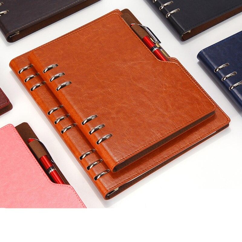 Caderno de couro a5 b5 bullet journal planejador anual 2020 agenda espiral diário pessoal bolso fichário organizador para papelaria
